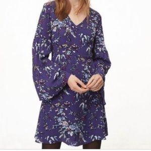NWT Loft frosted bell sleeve dress!